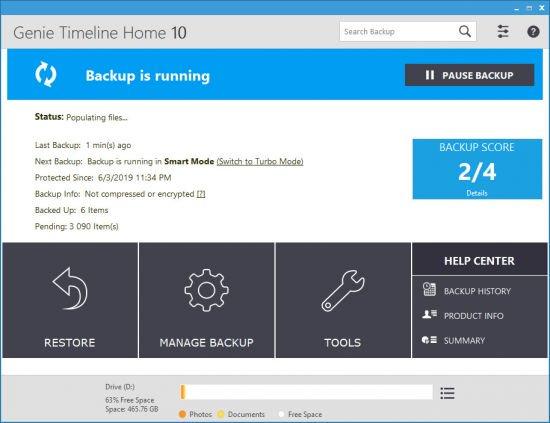 Genie Backup Manager Professional / Server 9.0.567.891 Multilingual Full İndir