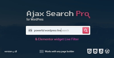 Ajax Search Pro for WordPress v4.18.6 Full İndir