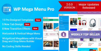 WP Mega Menu Pro v2.1.3 Full İndir